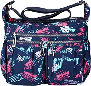 VBIGER Umhängetasche Damen Handtasche Bunt Taschen Damen Blume Wasserdicht Handtaschen Groß Schultertasche Leichte Nylon für Frauen
