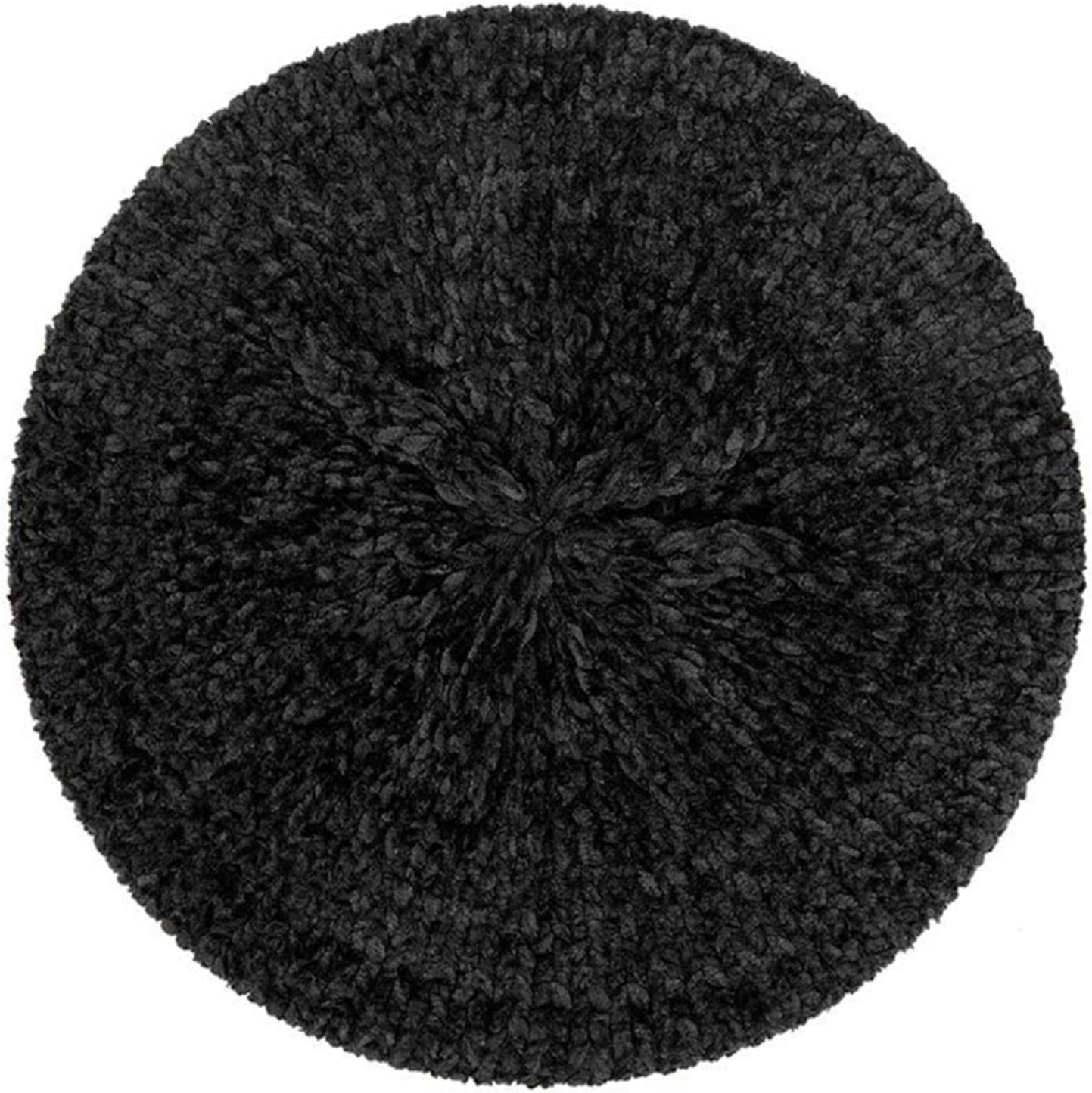 WEILYDF Stylish Chenille Beret Casual Solid Color Winter Warm Hat for Men and Women, Style 4