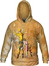 Yizzam- Banksy Bethlehem Wall Graffiti -Allover Print - Mens Hoodie Sweater