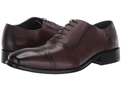 Vintage Foundry Cap Toe Shoe Dress Formal (Dark Brown) Men