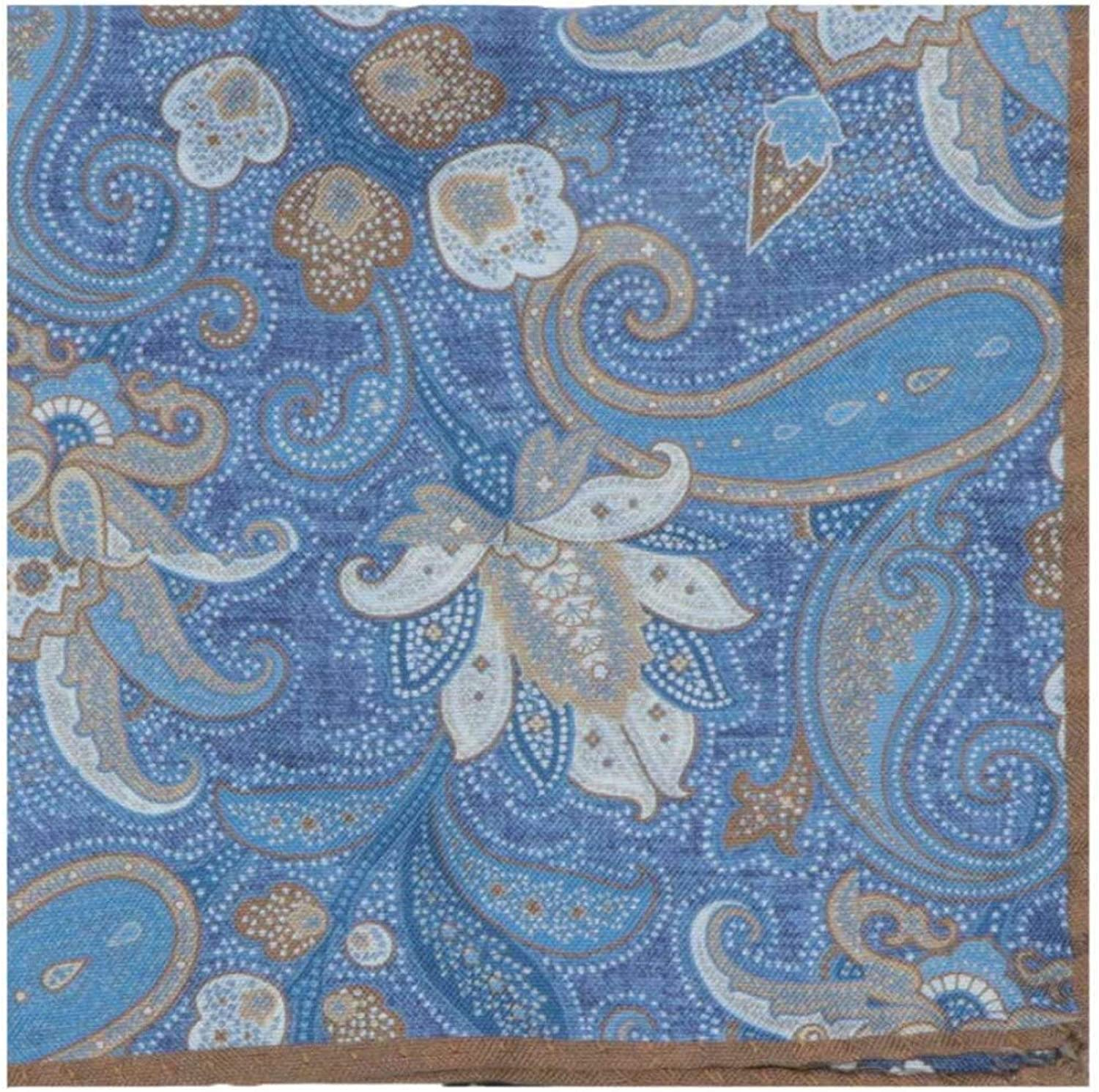 Dion Men's Double Sided Paisley Floral Our shop most popular Max 59% OFF Pocket Bordered Square