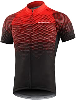 BERGRISAR Men's Cycling Jerseys Short Sleeves Bike Shirt
