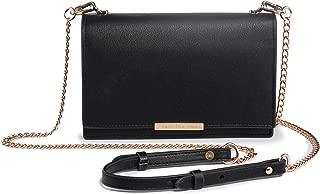Crossbody Wallet Women PU Leather Cellphone Purse Chain Strap Nail Clipper