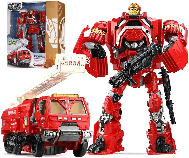 punto de venta Yingjianjun Robot de Rescate de héroe, Juguete de deformación deformación deformación Infantil, Modelo de luz y Sonido de Robot de camión de Bomberos (Rojo) (Style   2)  servicio honesto