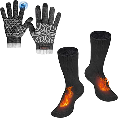 new arrival Bymore Winter Accessories high quality for Men 2021 and Women, Touch Screen Gloves for Texting Thermal Gloves for Running, Warm Thick Winter Socks Insulated Cold Weather sale