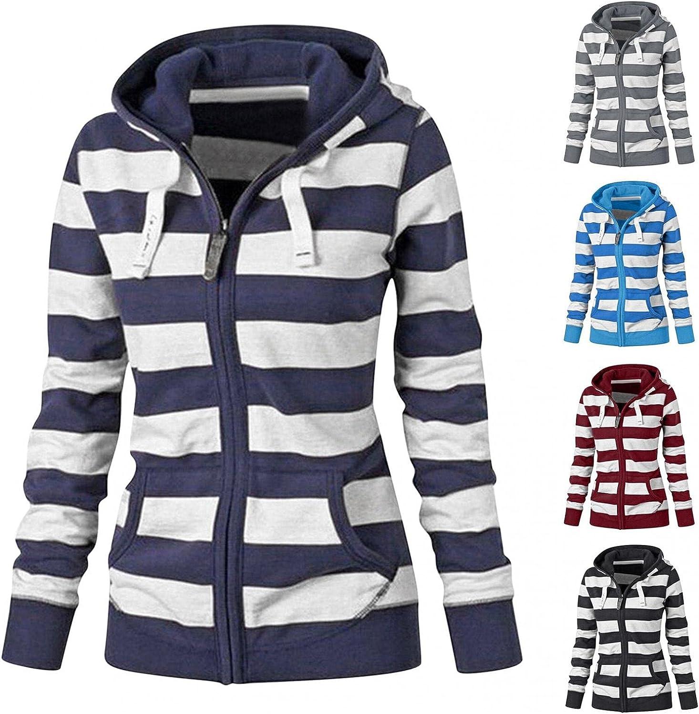 Women's Y2K Zip Up Hoodie Graphic Zipper Hoodies Plus Size Pullover Sweatshirt Lightweight Jacket Coat & Pocket