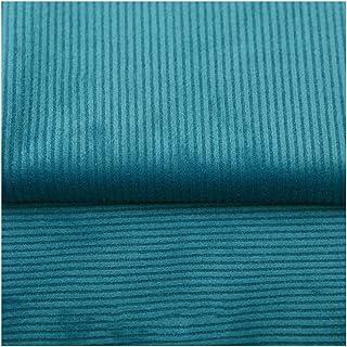 NAKAN Azul Tela de Terciopelo a Rayas por Metro 150x100cm Tela de Tapicería de Poliéster para Manualidades de Costura, Decoraciones, Forro de Asiento(Color:23)