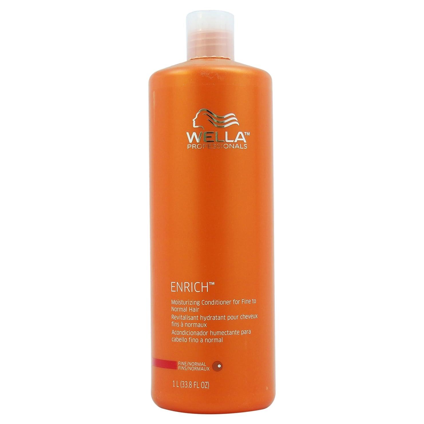 閃光他の場所外国人Wella Enriched Moisturizing Conditioner for Fine To Normal Hair for Unisex, 33.8 Ounce by Wella