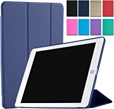 DuraSafe Cases for iPad Air 1 Gen 2013-9.7 Inch [ A1474 A1475 ] Tri Fold Smart Cover with Translucent Back - Navy Blue
