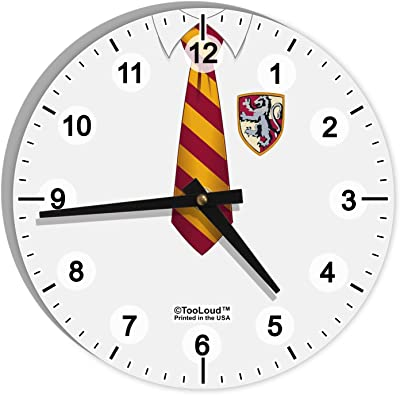 Silver 13 TC2388FS Tempus/® Slim Profile Wall Clock with Green and Red Contrasting Hands and Silent Sweep Quiet Movement 13