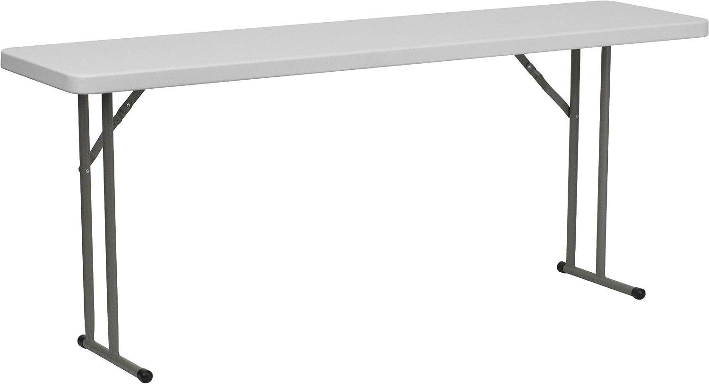 Flash Furniture 18''W by 72''L Granite White Plastic Folding Training Table