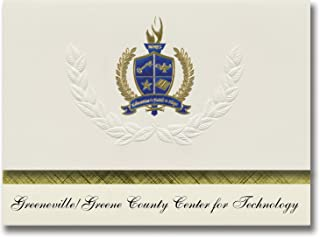 Signature Announcements Greeneville/Greene County Center for Technology (Greenville, TN) Graduation Announcements, Preside...