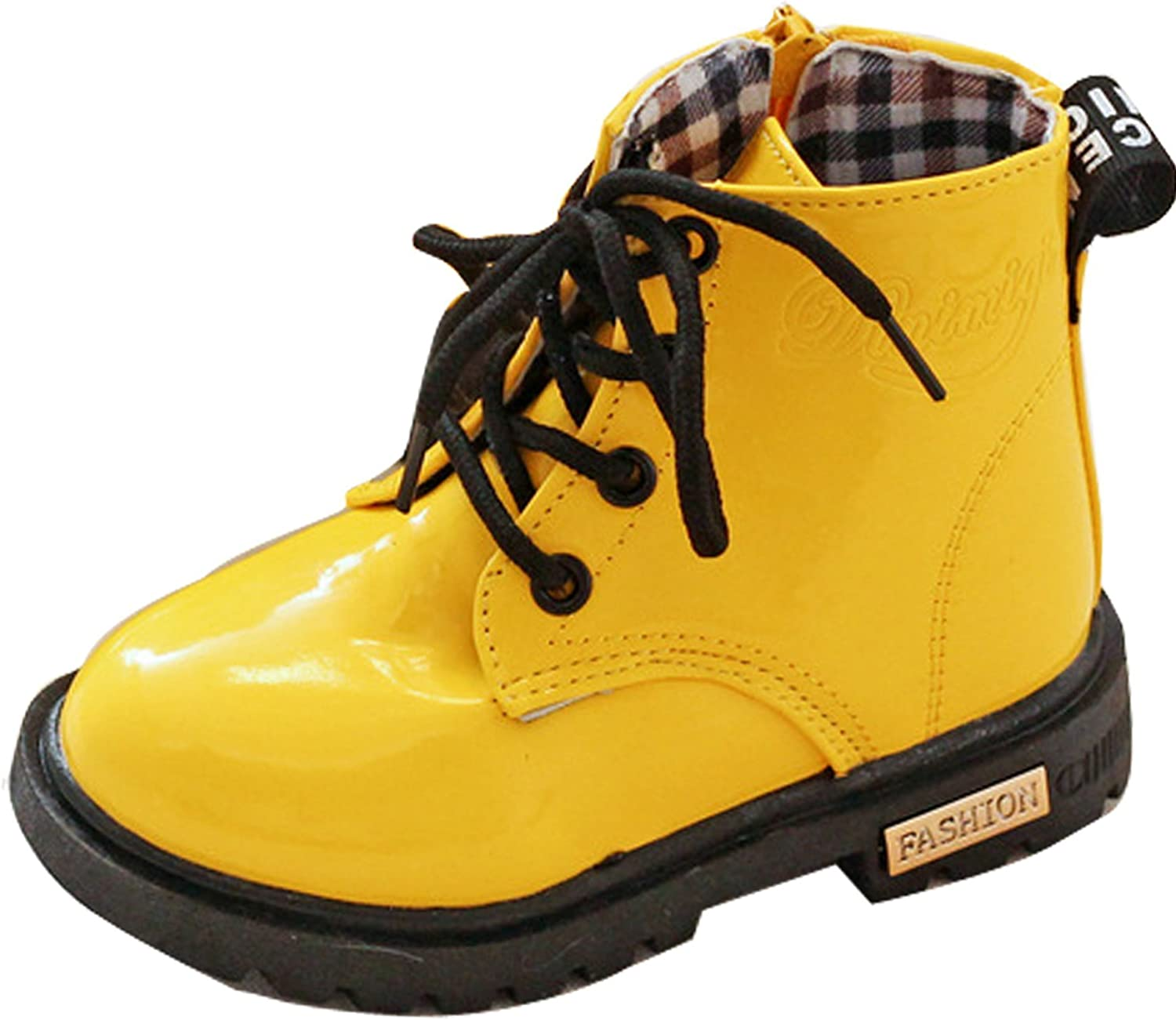 Kids Boys Girls Ankle Boots Popular popular - Lace Up Zip Children Shipping included Waterproof Pu
