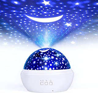 Star Night Light Projector, FISHOAKY 3 in 1 Sky Night Light Projector, 360°Rotating 8 Colors Mode Projector Baby Night Lights with USB Cable, Popular Toy Gifts for Kids Baby Birthday Christmas