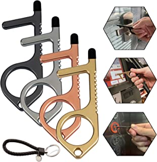 4PCS Non-Contact Door Opener Handheld EDC Keychain Tool No-Touch Stylus Keychain Tool Portable Stick For Push The Elevator Button