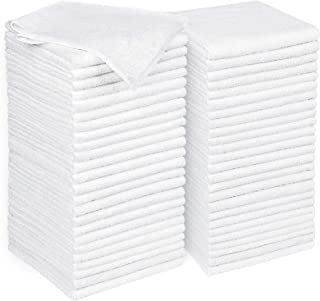 AIDEA Microfiber Cleaning Cloths White, Strong Water Absorption, Lint-Free, Scratch-Free, Streak-Free, Dish Towels White (...