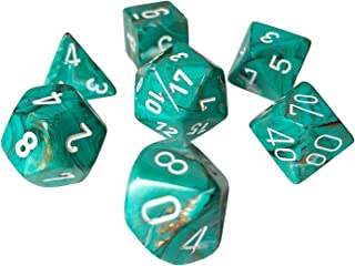 Chessex Marble Polyhedral Oxi-Copper - White 7-Die Set