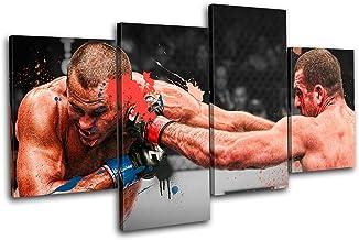 Bold Bloc Design - MMA Mauricio Shogun Rua Sports - 240x135cm Caja de lámina de arte lienzo enmarcado foto del colgante de pared - hecho a mano en el Reino Unido - enmarcado y listo para colgar - Canvas Art Print