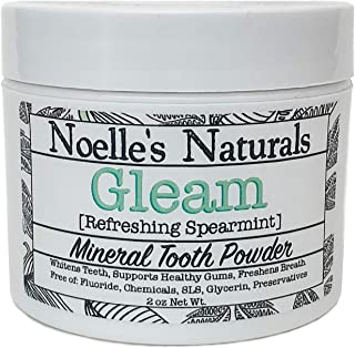 Remineralizing Tooth Powder - 2oz - Spearmint - All Natural - Fluoride Free - Glycerin Free - SLS Free - Preservative Free - Whitening - Non-toxic