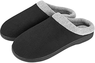 Puricon Men's Slippers, Soft Cozy Comfortable Memory Foam Non-Slip Autumn Winter Indoor Slippers Breathable House Shoes fo...