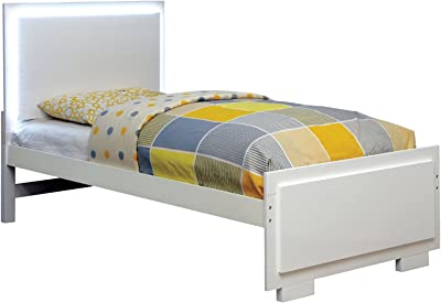 HOMES: Inside + Out IDF-7840F Out ioHOMES Ellison Sleek Contemporary Bed Full White