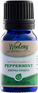 Woolzies Peppermint Essential Oil 10 Ml 100% Pure Organic Therapeutic Undiluted Aromatherapy Mint Oil For Diffusers Humidi...