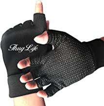 HZZK OUTDOOR Thug Life Men And Women Exercise Cycling Shockproof Half Finger Non-slip Gloves Outdoor Sports Fitness Bike Gloves