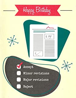 Peer Review Funny Science Birthday Card (4.25
