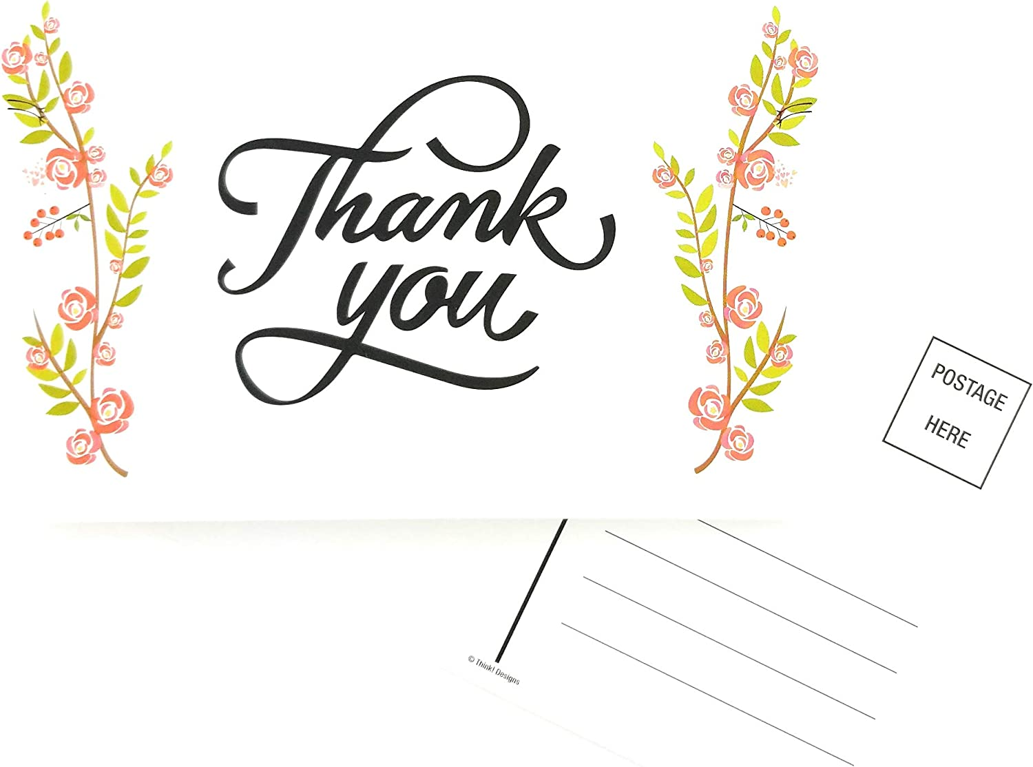 THINK Designs Thank You Cards Outlet sale feature - Floral Pos Rose Greeting Flower 2021 autumn and winter new