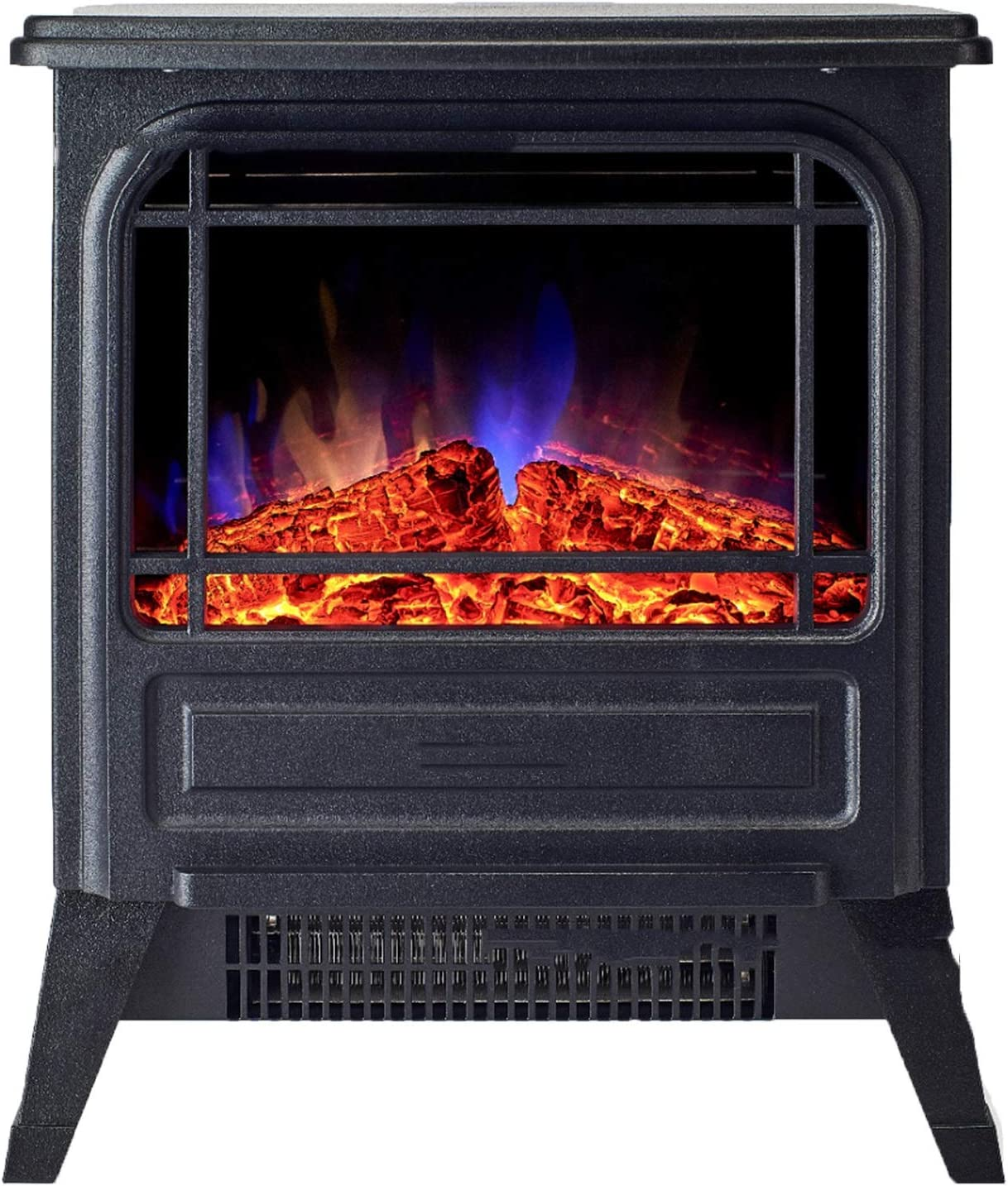 ALBBMY Easy-to-use Electric Fireplace Attention brand 1600W Standing Firepl Vintage