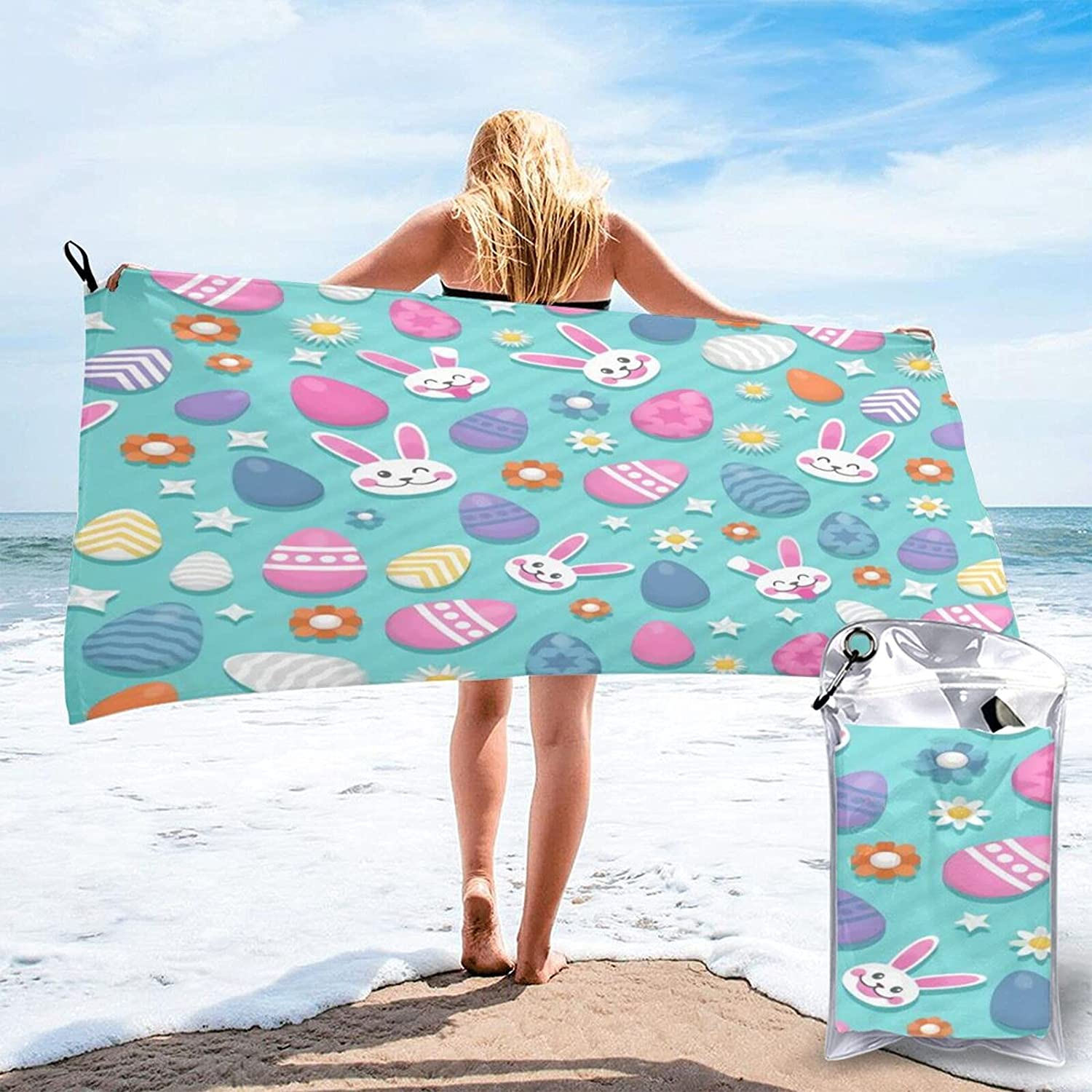 Limited Special Price Decorative and Nice Easter High quality Microfibre Q Pool Beach Travel Towels