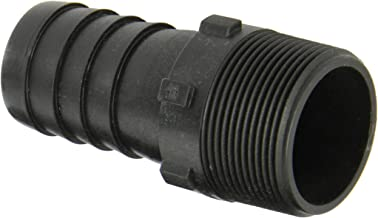 Dixon Valve HB150 Polypropylene Shank/Water Fitting, Tuff-Lite King Combination Nipple, 1-1/2