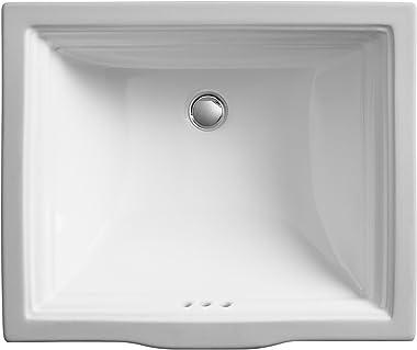 KOHLER Memoirs Undermount Bathroom Sink, White, K-2339-0