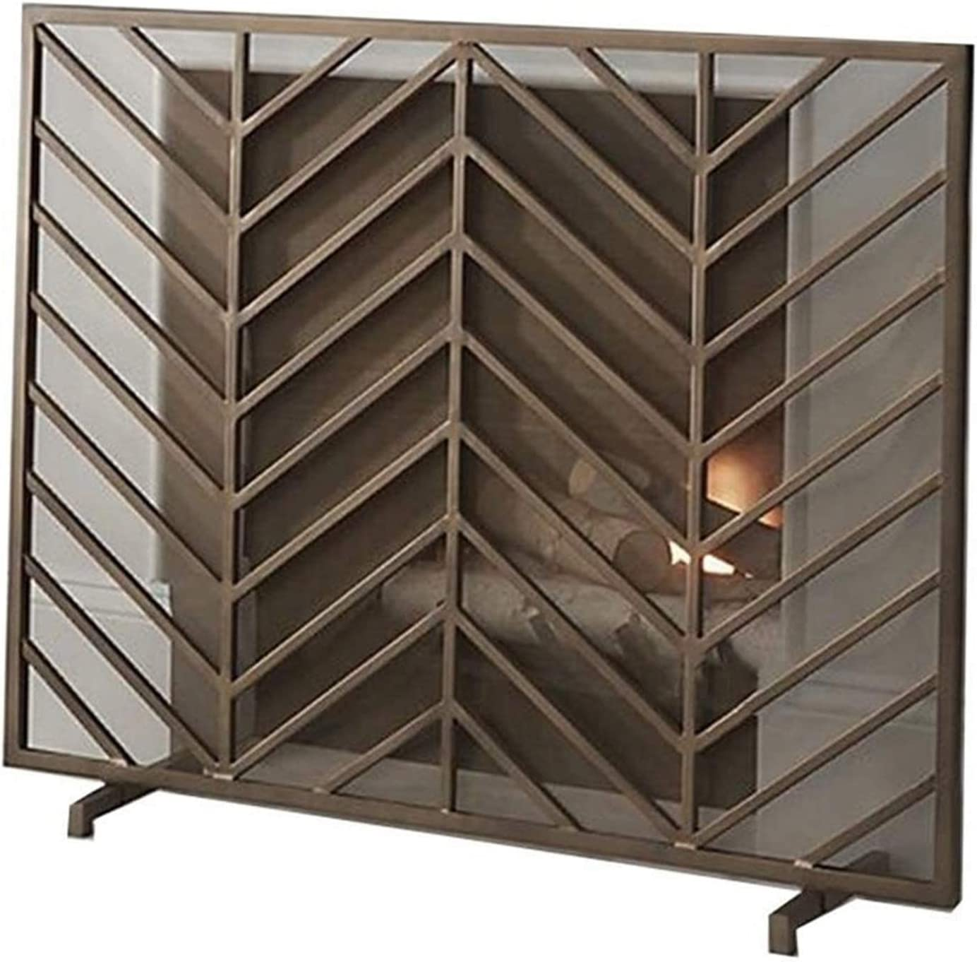 SMLZV Fireplace Screens Single Screen Gua Chicago Mall Max 62% OFF Spark Panle