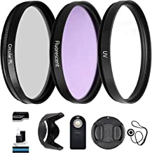 55mm UltraPro Professional Filter Bundle for Lenses with a 55mm Filter Size - Includes Filters, Remote, Lens Hood & More