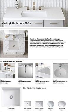 Kohler K-8189-0 Verticyl Rectangle Bathroom Sink, White