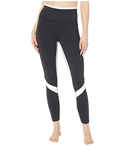 New Balance Transform High-Rise 7/8 Pocket Tights (Black/White) Women