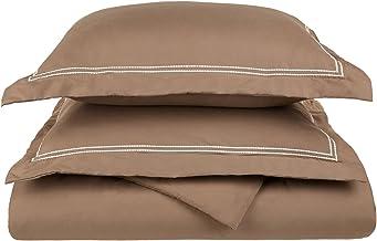 غطاء لحاف ناعم للغاية، خفيف الوزن، 100% من الألياف الدقيقة المصقولة، مقاس كامل/كوين، مقاوم للتجاعيد، رمادي داكن مع أغطية و...