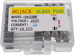 BOJACK 6x30mm 3A 3amp 250V 0.24x1.18 Inch F3AL250V Fast-Blow Glass Fuses(Pack of 18 Pcs)