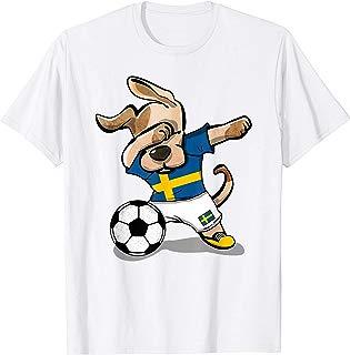 Dog Dabbing Soccer Sweden Jersey Shirt Swedish Football 2019