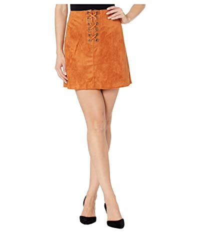 BCBGeneration Lace-Up Faux Suede Skirt TGI3247684 (Spice) Women