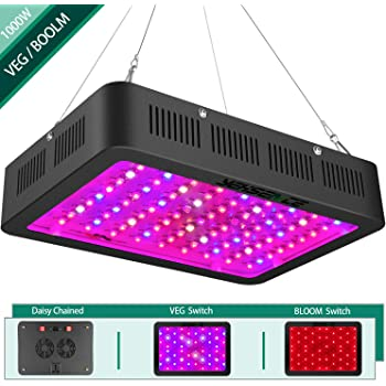 1000w LED Grow Light with Bloom and Veg Switch,Yehsence Daisy Chained LED Plant Growing Lamp Full Spectrum with (15W LED) Triple-Chips for Professional Indoor Plants,can Replace HPS Grow Light