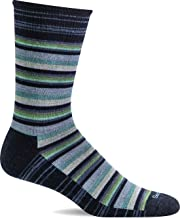 product image for Sockwell Men's Fiesta Stripe Crew Sock, Navy - M/L