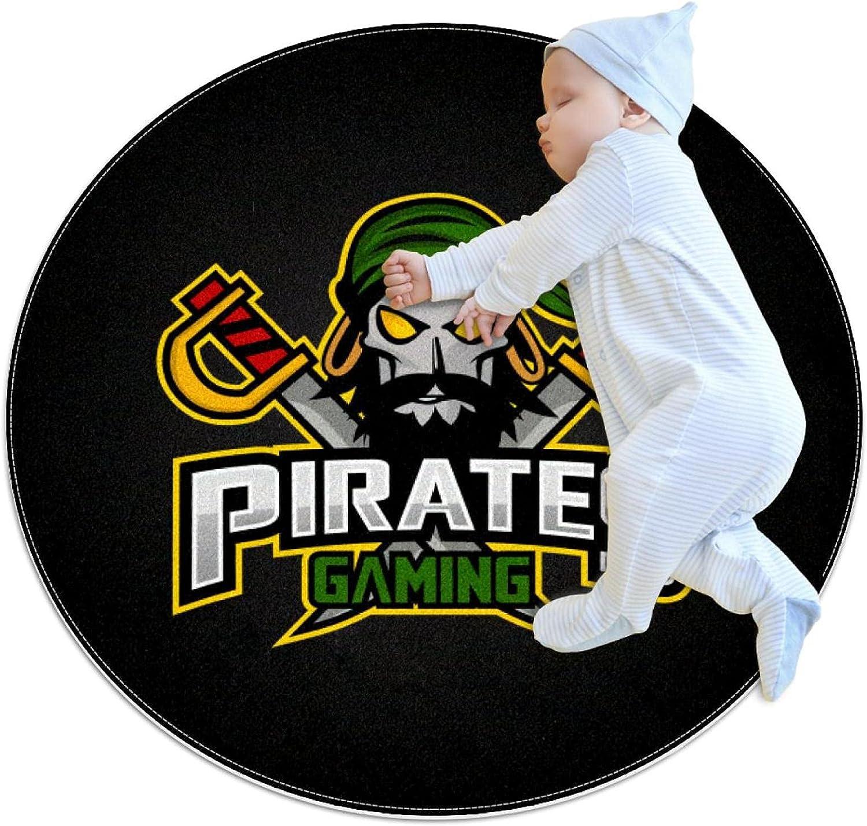 Pirates Mascot Sport Kids 2021new shipping Tampa Mall free Nursery Rug Play Carpet Round Des Mat
