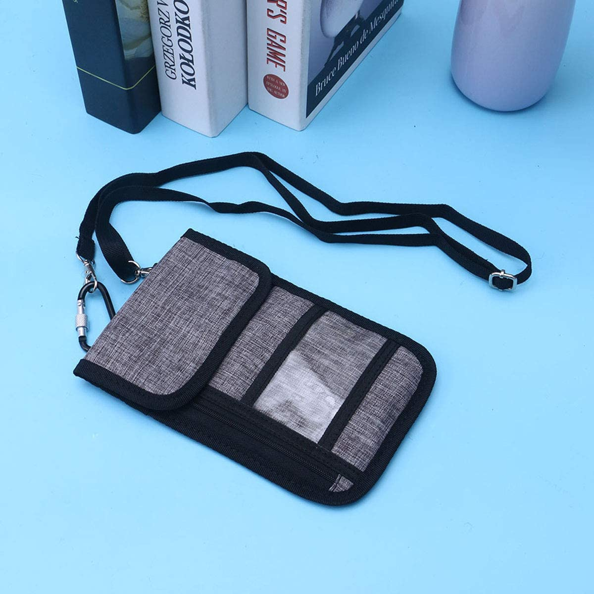 FENICAL Passport Wallet Holder Neck RFID Blocking Travel Bag Money Holder for Women Men Black