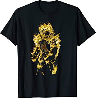 Wyoming Cowboys Football Player On Fire T-Shirt - Apparel