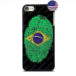 Brazilian Flag Fingerprint Slim Shockproof Hard PC Custom Case Cover for iPod Touch 7 6 5 4