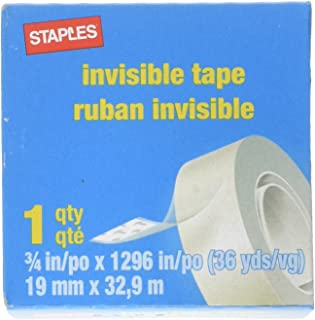 Staples 487908 Invisible Tape 3/4-Inch X 1296-Inch 12-Pack (52477-P12)