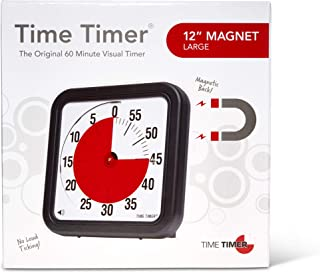 Time Timer Original 12 inch MAGNET; 60 Minute Visual Timer – Classroom or Meeting Countdown Clock for Kids and Adults (Black)