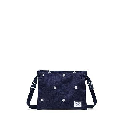 Herschel Supply Co. Alder (Polka Dot Crosshatch Peacoat) Cross Body Handbags